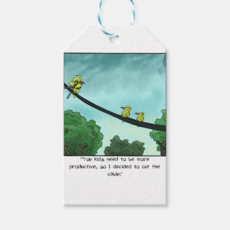 Bird Cut the Cable Gift Tags
