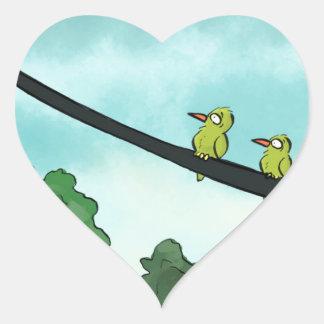 Bird Cut the Cable Heart Sticker