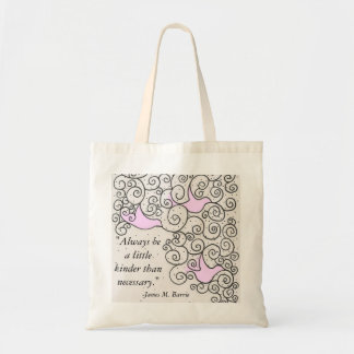 Bird Design With Quote Tote Bag