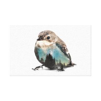 Bird Double Exposure Canvas Print