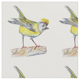 """Bird Drawing  Combed Cotton (56"""" width) Fabric"""