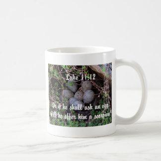 Bird Eggs Christian bible verse nature nest Mug