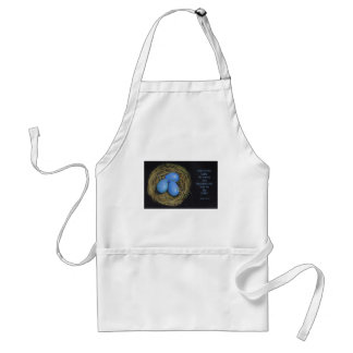 Bird Eggs in Nest: Bible Verse from Psalms Adult Apron
