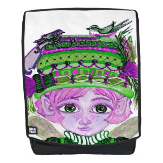 Bird Fairy Boldface Backpack + Face