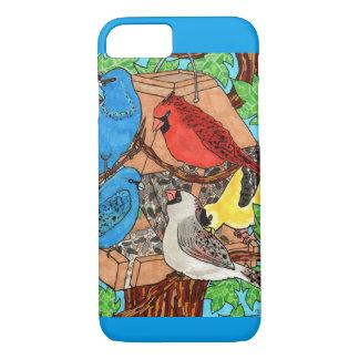 Bird Feeder Gathering iPhone 7 Case