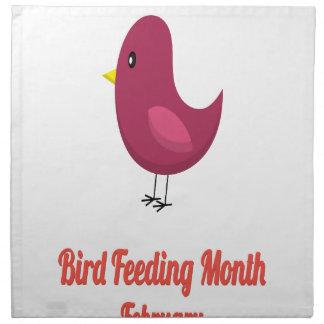 Bird-Feeding Month - Appreciation Day Printed Napkins