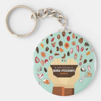 Bird-Feeding Month February - Appreciation Day Basic Round Button Keychain