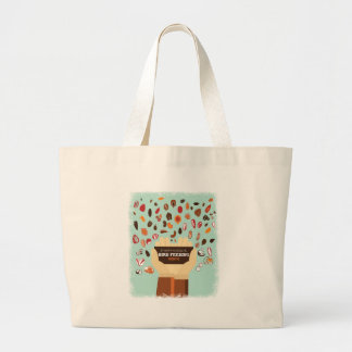 Bird-Feeding Month February - Appreciation Day Large Tote Bag