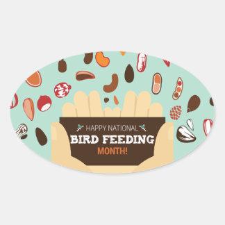 Bird-Feeding Month February - Appreciation Day Oval Sticker