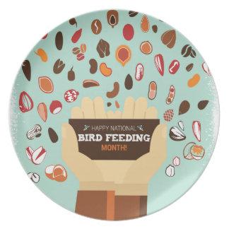 Bird-Feeding Month February - Appreciation Day Party Plates