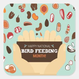 Bird-Feeding Month February - Appreciation Day Square Sticker