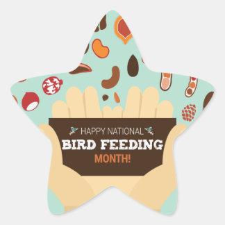 Bird-Feeding Month February - Appreciation Day Star Sticker
