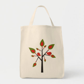 Bird Feeding Tree Huggers Grocery Tote Bag