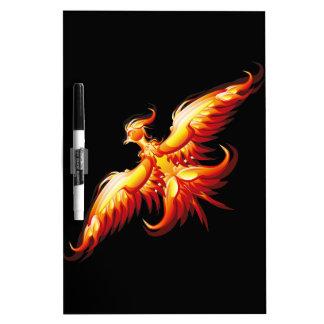Bird fire Phoenix  3 Dry Erase White Board