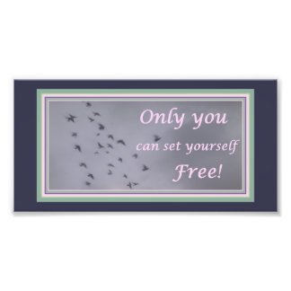Bird Flight Photo with Freedom Quote