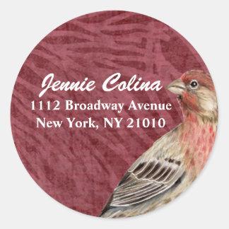 Bird & Floral Address Label