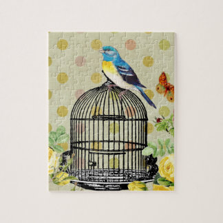 bird Floral, Art, Design, Beautiful, New, Fashion Jigsaw Puzzle