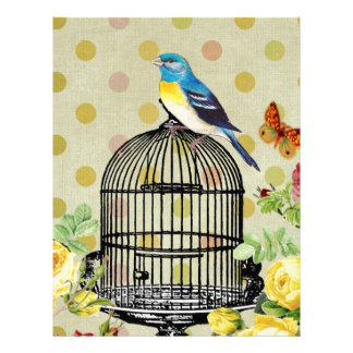 bird Floral, Art, Design, Beautiful, New, Fashion Letterhead