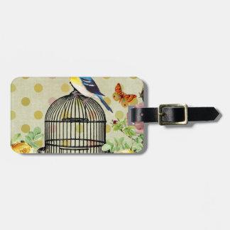 bird Floral, Art, Design, Beautiful, New, Fashion Luggage Tag
