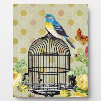 bird Floral, Art, Design, Beautiful, New, Fashion Plaque