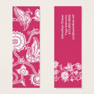 Bird & Flower Batik Motif Mini Business Card