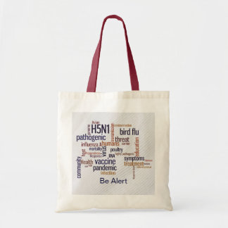 Bird Flu Awareness Canvas Crafts & Shopping Bag