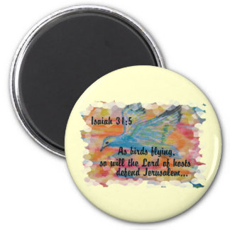 Bird Flying Messianic Jew bible verse Christian Magnet