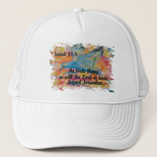 Bird Flying Messianic Jew bible verse Christian Trucker Hat