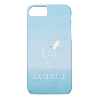 Bird Flying over Ocean in Hawaii Inspirational iPhone 8/7 Case