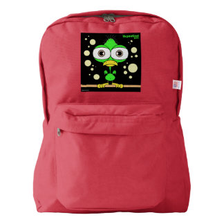 Bird(Green) Backpack, Red Backpack