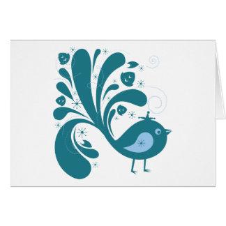 Bird ~ Green & Blue Song Birds Songbird Card