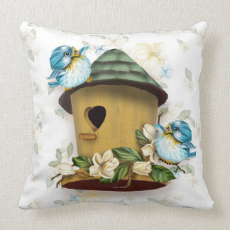 BIRD HOME SONG THROW PILLOW 20 X 20