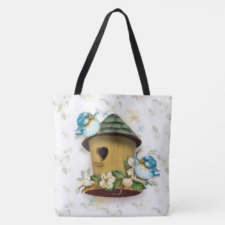 BIRD HOME SONGS All-Over-Print Tote Bag Large