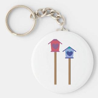 Bird House Keychains