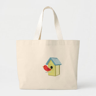 Bird House Large Tote Bag