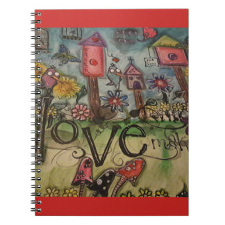 Bird house Love illustrated note book