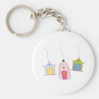 Bird Houses Keychain
