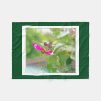 Bird Hummingbird Animal Floral Fleece Blanket
