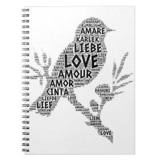 Bird illustrated with Love Word Notebook