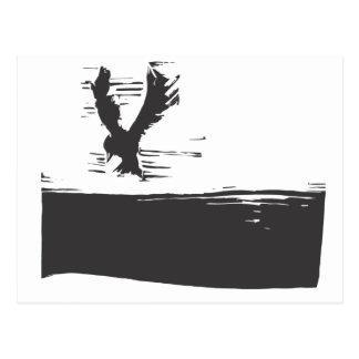 Bird in a Sky Postcard