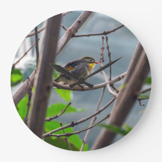 Bird in a tree wall clock