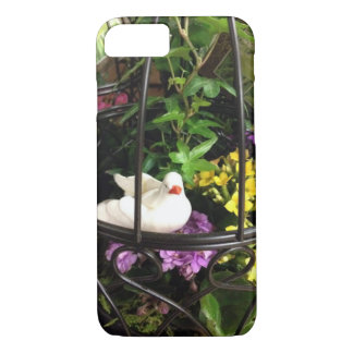 Bird In Cage With Flowers iPhone 7 Case