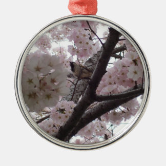 Bird in Cherry Tree Ornament