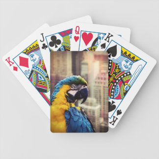 Bird In The City Bicycle Playing Cards
