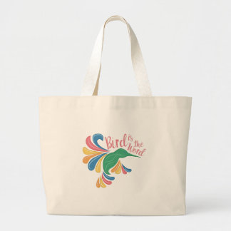 Bird Is Word Large Tote Bag
