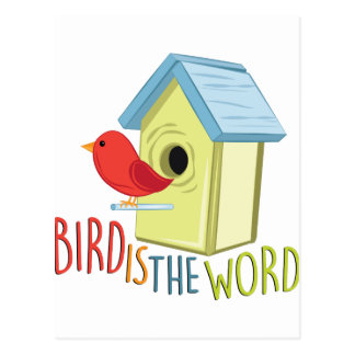 Bird Is Word Postcard