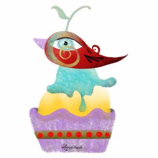 Bird kawaii icecream home decor ornament delicious photo sculpture button