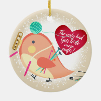 Bird knitting crochet crafts Christmas ornament