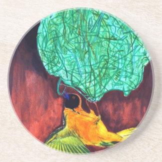 Bird Knitting Nest Coaster
