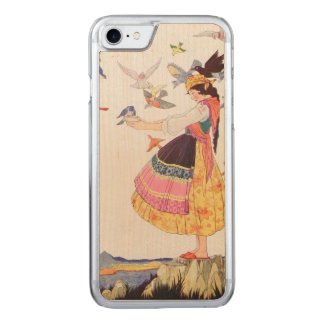 Bird Lady Carved iPhone 7 Case